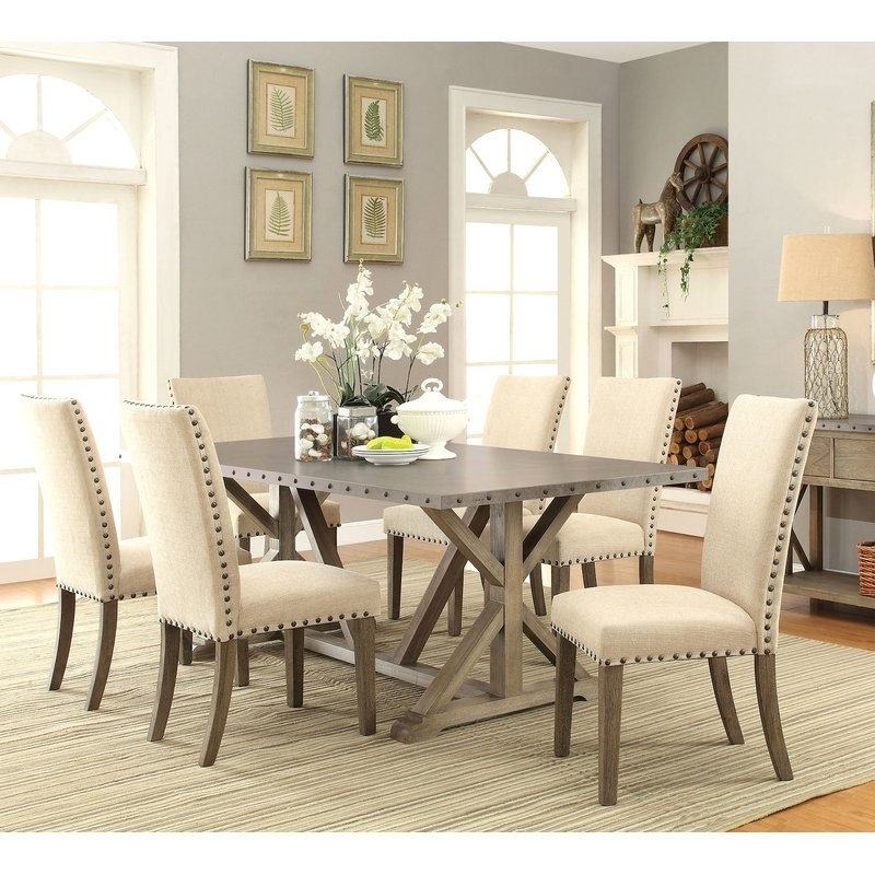 Current Infini Furnishings Athens 7 Piece Dining Set & Reviews (View 13 of 20)