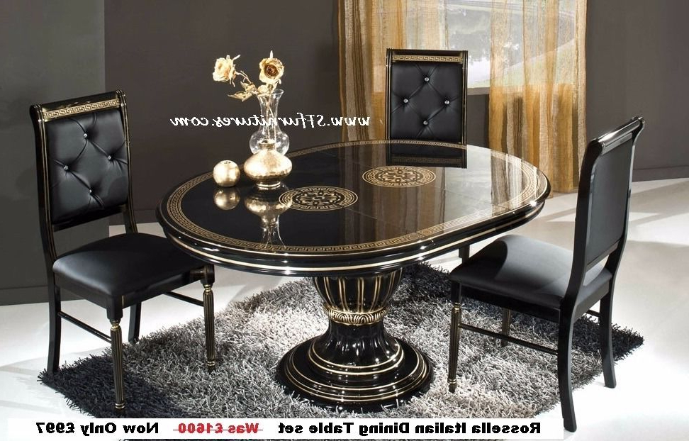Current Italian Dining Tables Inside Italian Dining Table And Chairs, Italian Dining Table Set, Italian (View 8 of 20)