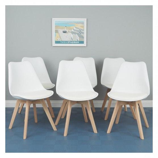 Current Jerry Set Of 6 White Dining Chairs (View 5 of 20)