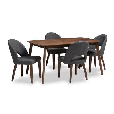 Current Laurent 5 Piece Round Dining Sets With Wood Chairs With Wholesale Interiors Kimberly Mid Century Modern Wood Round 5 Piece (Gallery 12 of 20)