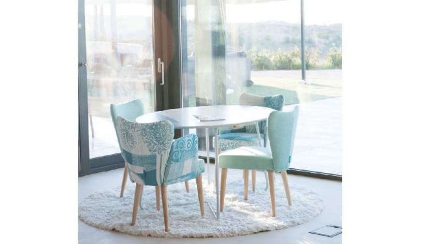 Current Leon Fabric Dining Chair Range (Gallery 18 of 20)