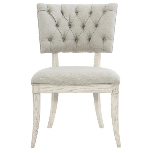 Current Lindy Dove Grey Side Chairs Regarding Domaine Blanc Upholstered Side Chair (Each) In Dove White (View 5 of 20)