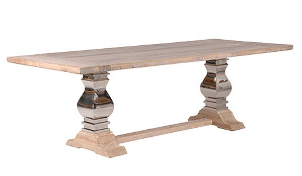 Current Loft Dining Furniture: Industrial Rustic Dining Tables, Chairs Within Dining Tables With Large Legs (View 12 of 20)