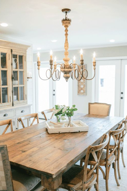 Current Magnolia Home Breakfast Round Black Dining Tables Intended For Fabulous Farmhouse Dining Table And Chairs Amusing Round Farmhouse (View 18 of 20)