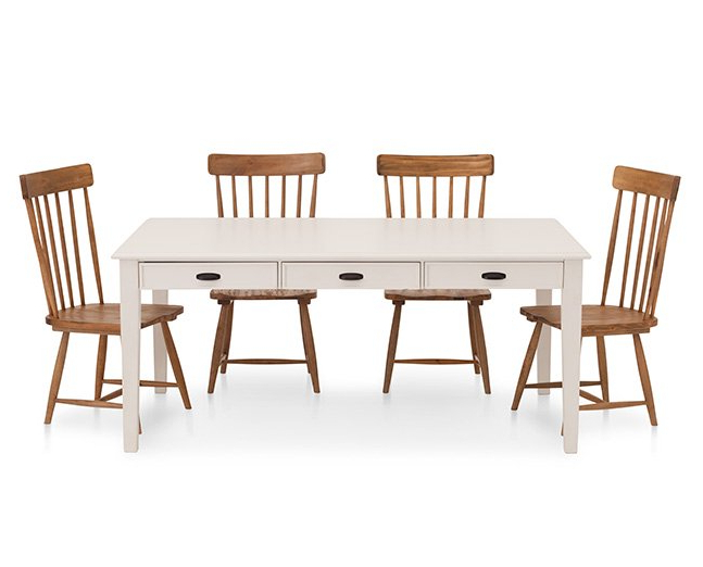 Current Magnolia Home Breakfast Round Black Dining Tables Within Magnolia Home 5 Pc (View 4 of 20)