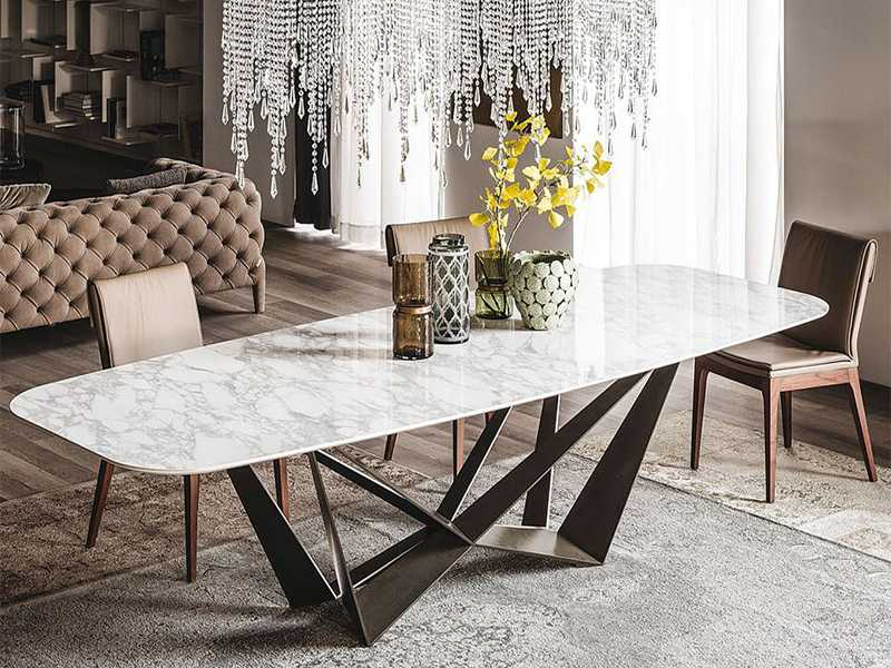 Current Marble Top Dining Table Set B5809 Throughout Marble Dining Tables Sets (View 3 of 20)