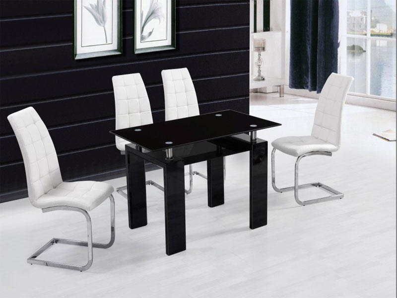 Current Metro Dining Tables With Regard To Metro Dining Table + 6 New York Chairs White (View 2 of 20)