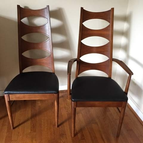 Current Mid Century Modern Walnut Dining Chair Setcoffey, Perspecta (6 Regarding Kent Dining Chairs (View 16 of 20)