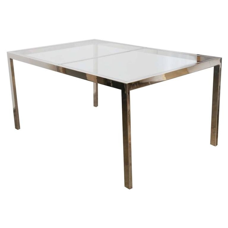 Current Milo Baughman Chrome And Glass Dining Table At 1stdibs With Chrome Glass Dining Tables (View 2 of 20)