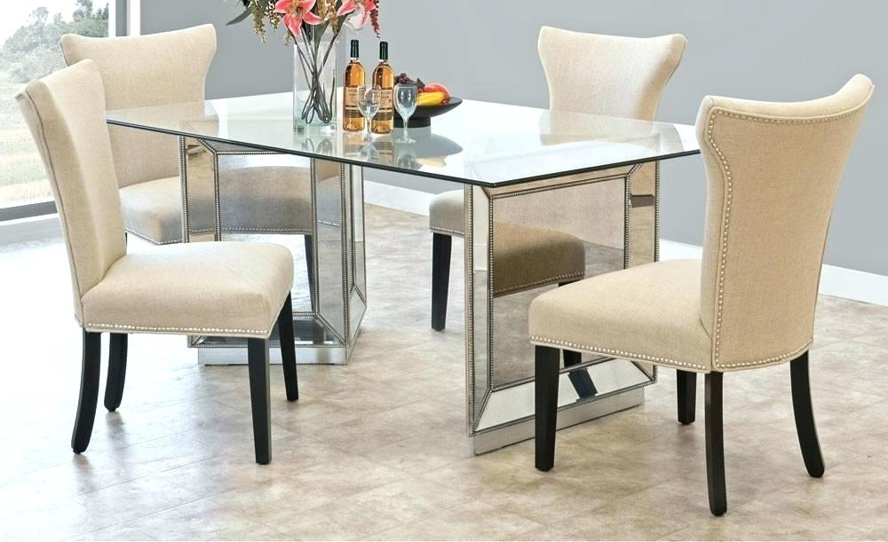 Current Mirror Glass Dining Tables Within Mirrored Dining Room Table Mirror Dining Table Round Mirror Ideas (Gallery 13 of 20)