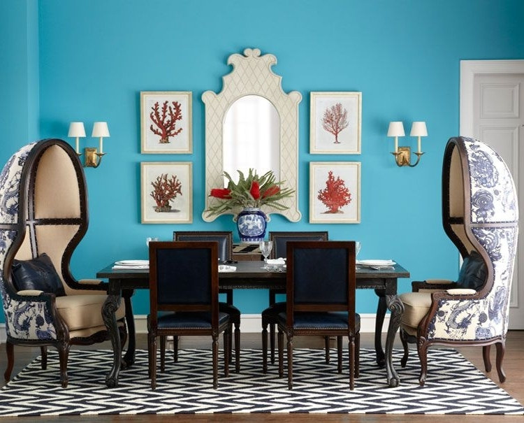 Current Nautical Blue Side Chairs In Shop Our Dining Rooms – Dining – Furniture – Horchow Our Balloon (View 4 of 20)