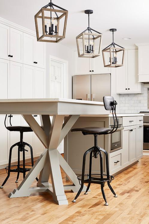 Current Next White Dining Tables In Dining Table Next To Kitchen Island Design Ideas (View 7 of 20)