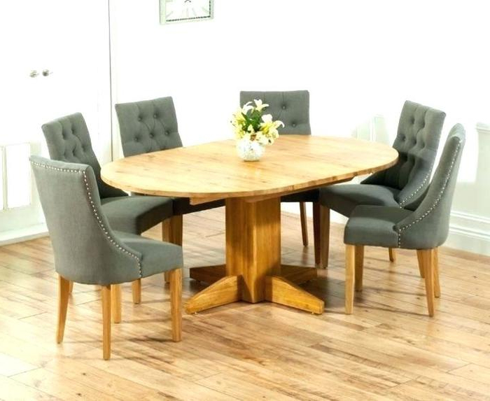 Current Oak Extending Dining Tables And 6 Chairs Inside (View 13 of 20)