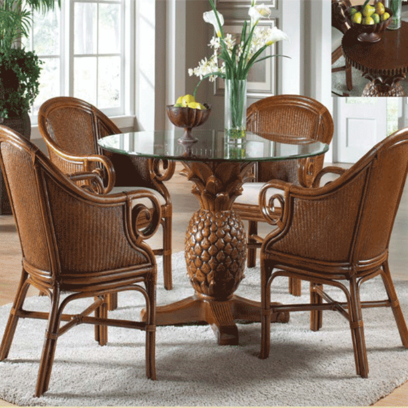 Current Ocean Reef 5 Pc. Dining Set Includes Four Dining Armchairs And Round Throughout Grady 5 Piece Round Dining Sets (Gallery 16 of 20)
