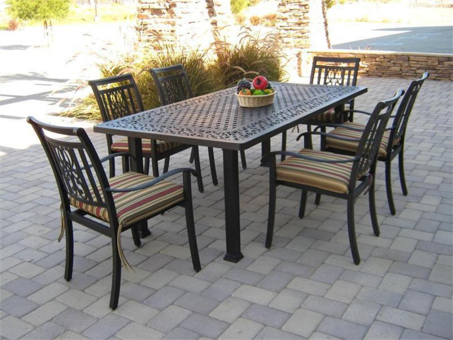 Current Patio: Astonishing Patio Table And Chair Sets Patio Furniture With Outdoor Dining Table And Chairs Sets (View 2 of 20)