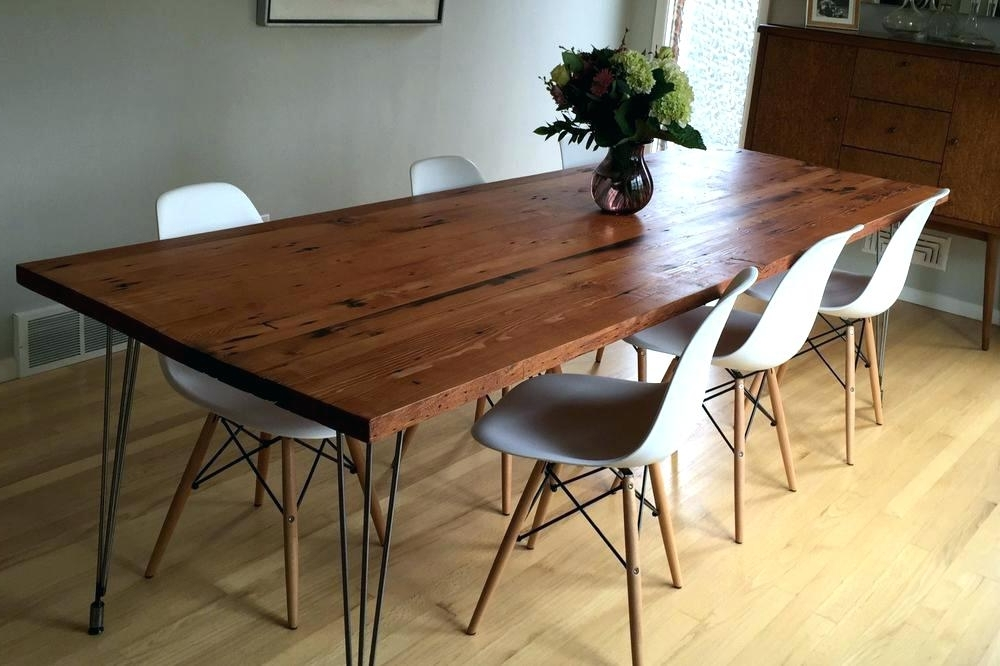 Current Pine Wood White Dining Chairs In Refurbished Tables Reclaimed Pine Dining Furniture Table Update Room (View 4 of 20)