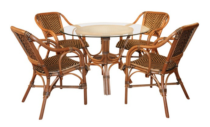 Current Rattan Dining Furniture: Safari Style Intended For Rattan Dining Tables (View 1 of 20)