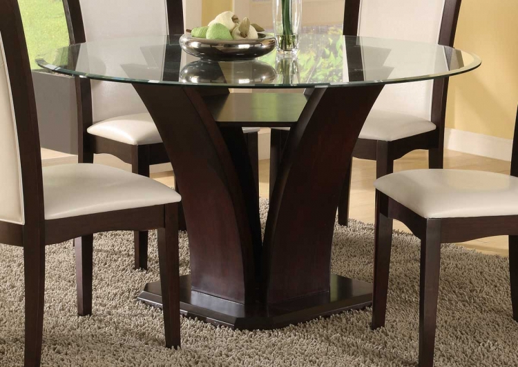 Current Round Oak And Glass Dining Table 19 Elegant Glass Top Round Dining In Oak And Glass Dining Tables Sets (View 4 of 20)