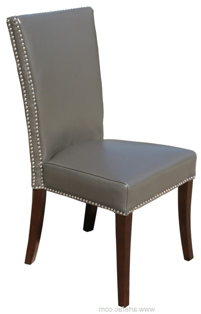 Current Rv 007 Highback Leather Dining Chair With Regard To High Back Leather Dining Chairs (Gallery 4 of 20)
