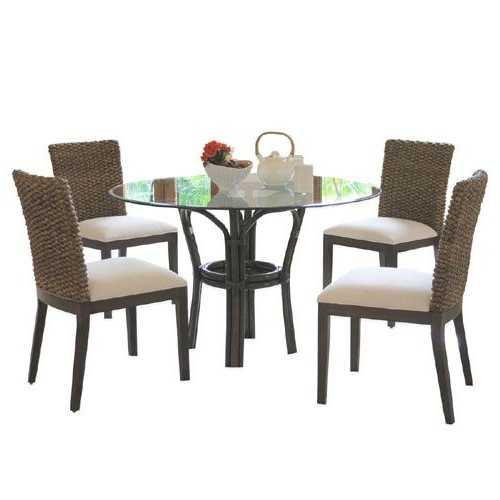 Current Sanibel Rattan Dining Room Set 1001 From Panama Jack – Hospitality For Magnolia Home Entwine Rattan Side Chairs (View 17 of 20)