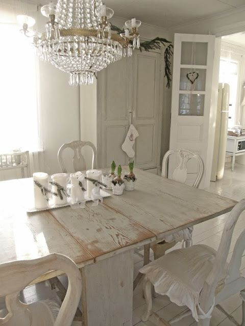 Current Shabby Chic Dining Sets Throughout Creating A Shabby Chic Dining Room – Csw (View 15 of 20)