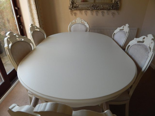 Current Shabby Chic Second Hand Dining Table And Chairs – Second Hand Throughout Shabby Chic Cream Dining Tables And Chairs (View 17 of 20)