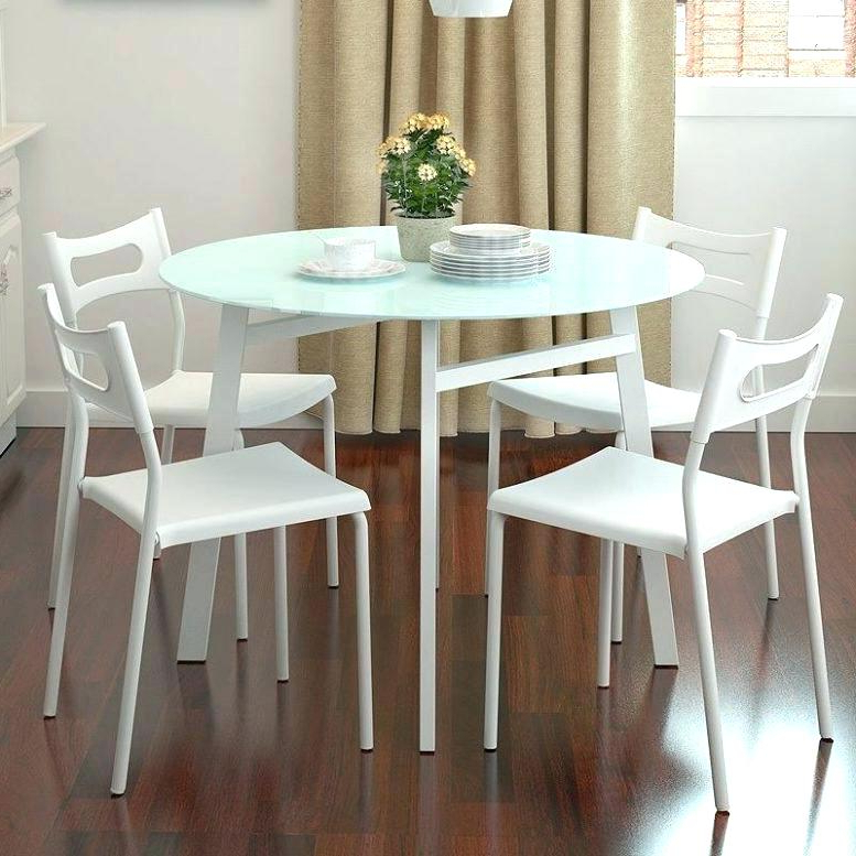 Current Small Round White Dining Tables For Dining Table Sets Ikea Table And 4 Chairs Dining Table Set Ikea (Gallery 19 of 20)