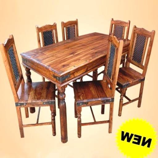 Current Smart Indian Wood Dining Table Interesting Ideas Sheesham Dining With Regard To Indian Wood Dining Tables (View 2 of 20)