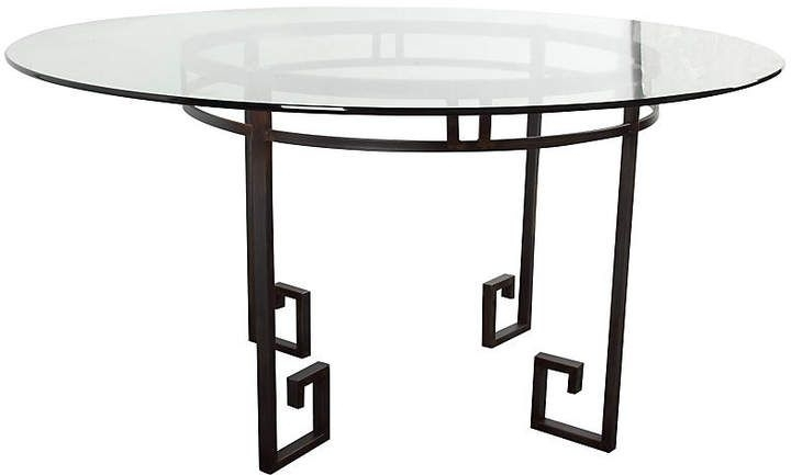 "Current Stanwix 62"" Round Dining Table #key#greek#iron (View 12 of 20)"