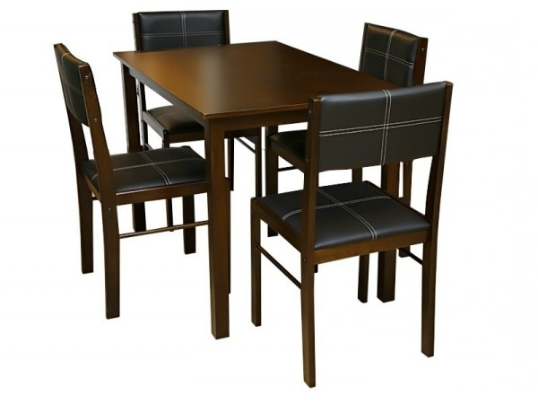 Current Table + 2/4 Chairs – Modern – Dining Within Crawford Side Chairs (View 9 of 20)