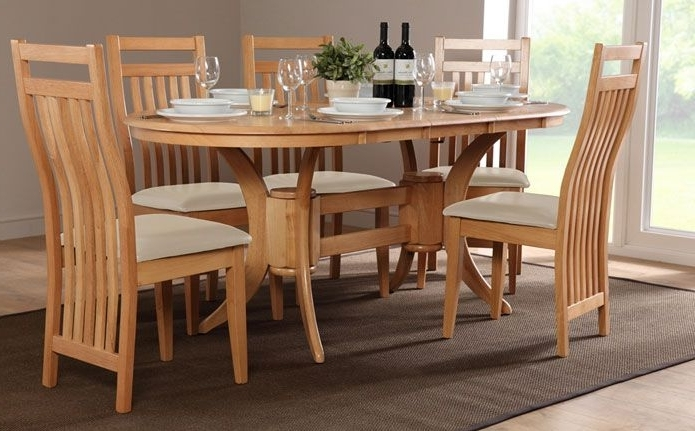 Current Townhouse & Bali Oval Extending Dining Set (ivory) (View 19 of 20)