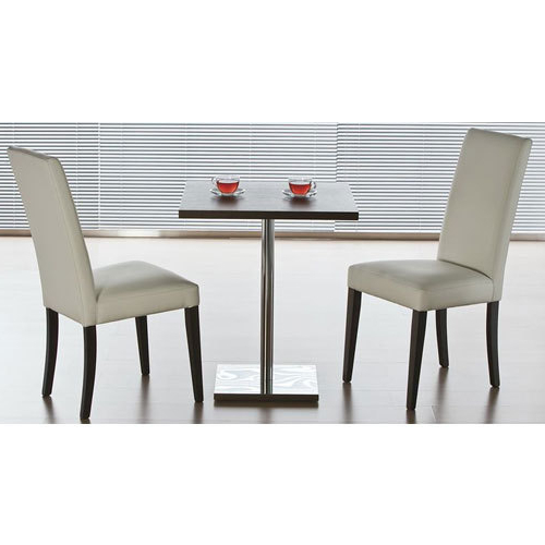 Current Two Seater Dining Tables With Regard To Wooden, Glass Two Seater Stainless Steel Dining Table, Shape (View 3 of 20)