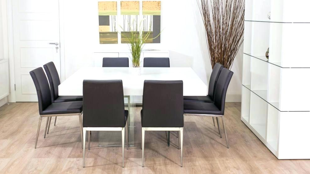 Current White Dining Tables 8 Seater In Modern Dining Table For 8 Large Square White Oak Dining Table Trendy (View 3 of 20)