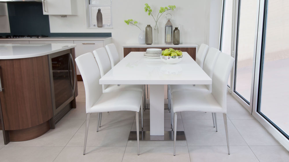 Current White Extendable Dining Table Modern Rectangular White Intended For White Extendable Dining Tables (View 13 of 20)