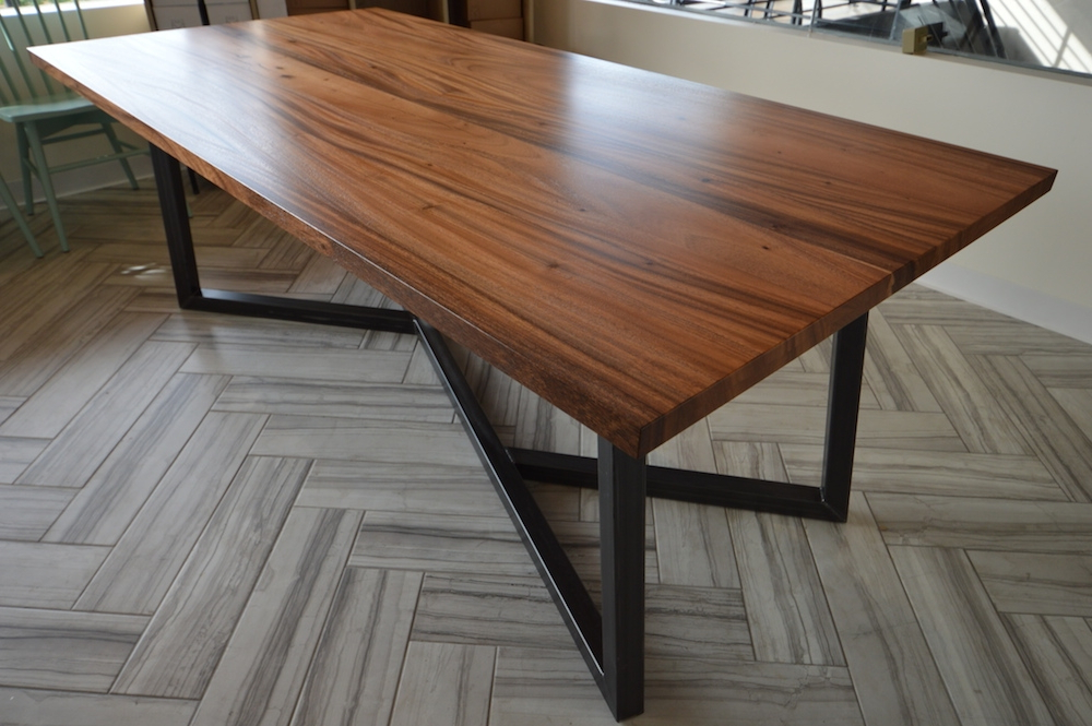 Current Wood Metal Dining Table – Thetastingroomnyc With Regard To Dining Tables With Metal Legs Wood Top (View 19 of 20)