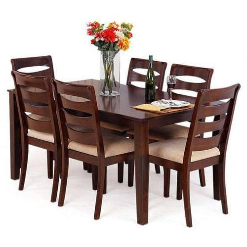 Current Wooden Dining Sets With Rubber Wooden Dining Table At Rs 48000 /set (View 7 of 20)