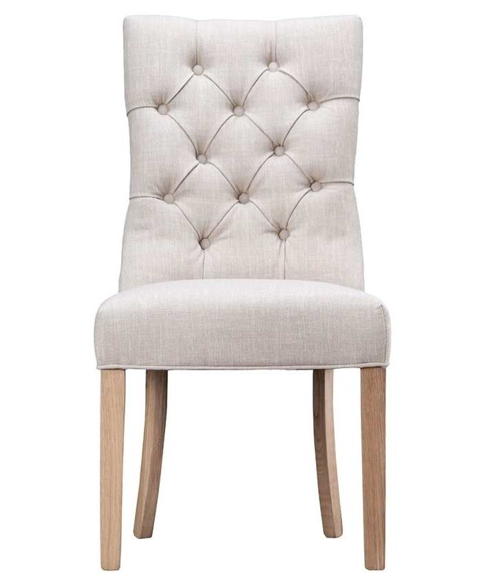 Curved Button Back Dining Chair – Brand Interiors Pertaining To Most Up To Date Button Back Dining Chairs (View 3 of 20)