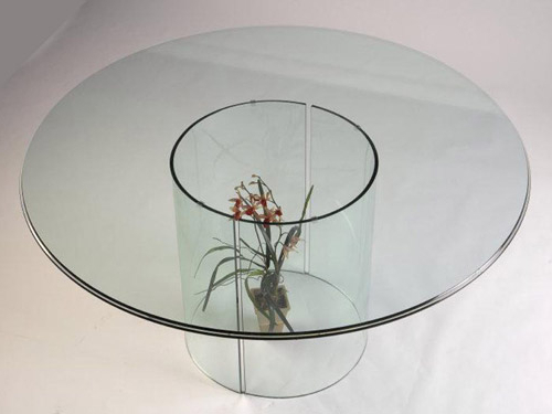 Curved Glass Dining Table Bases With Regard To Most Current Curved Glass Dining Tables (View 3 of 20)