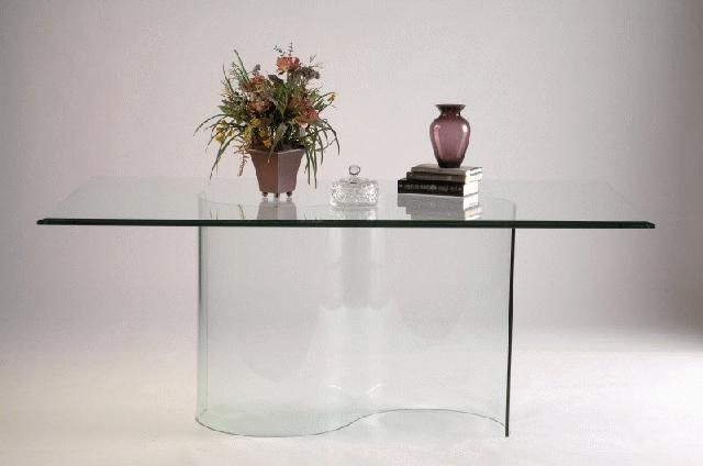 Curved Glass Dining Tables Throughout Widely Used Double Curved All Glass Dining Table Base (Gallery 1 of 20)