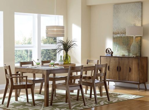Custom Amish Dining Room Furniture Intended For Weaver Ii Dining Tables (View 3 of 20)