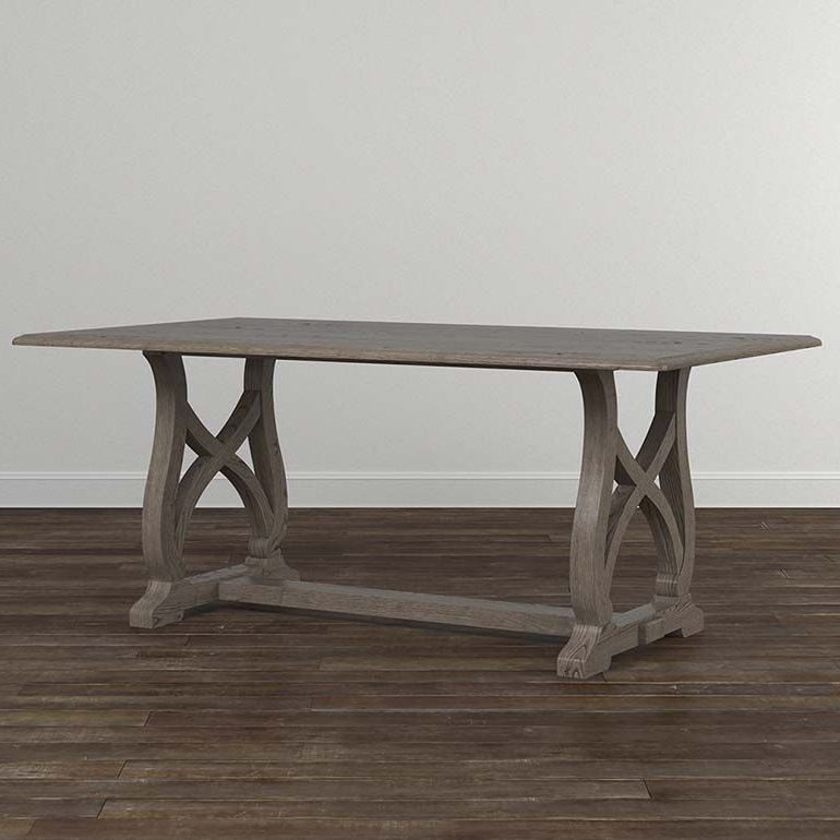 """Custom Dining 79"""" Table With Wood Base (View 3 of 20)"""