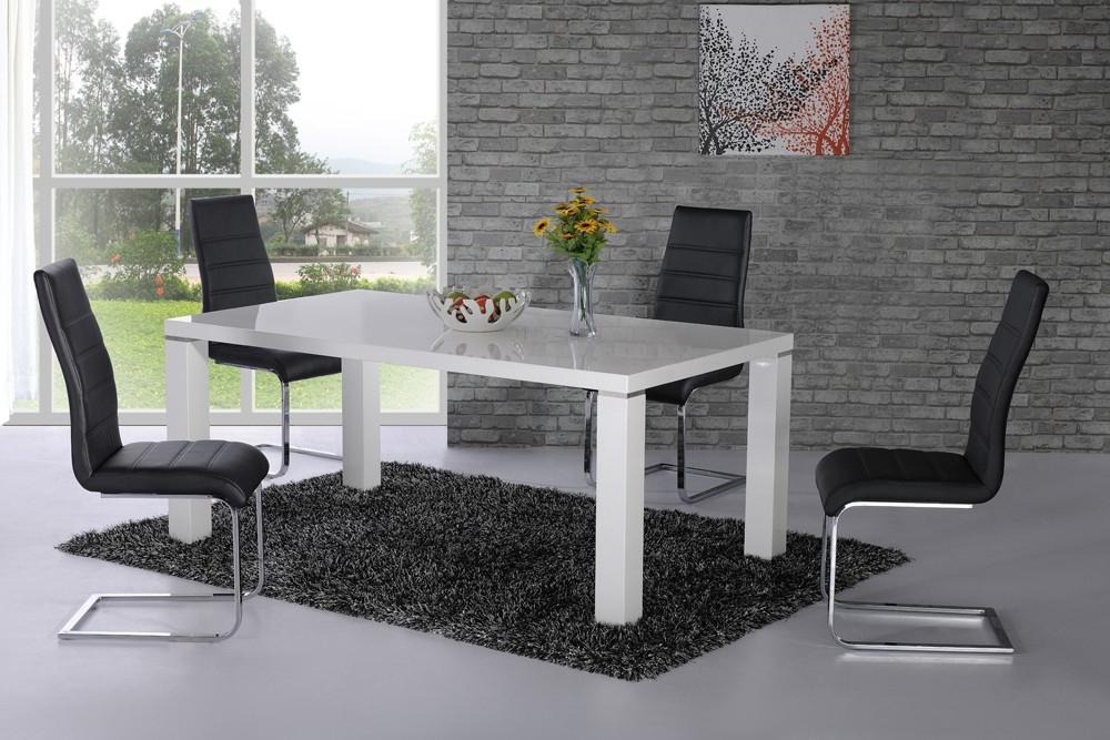 Danata White High Gloss Designer Dining Table – £ (View 3 of 20)