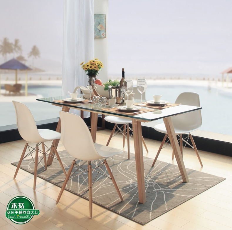 Danish Style Dining Tables With Regard To Current And Wood Furniture Modern Minimalist Scandinavian Wood Rectangular (View 8 of 20)