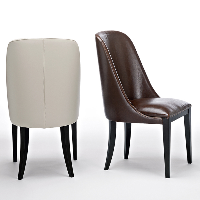 Dark Brown Leather Dining Chairs Inside Well Known Flamingo Dark Brown Leather Dining Chairs – Robson Furniture (View 5 of 20)
