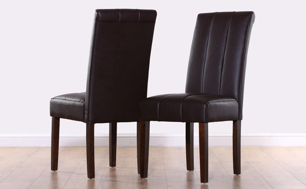 Dark Brown Leather Dining Chairs Pertaining To Most Up To Date Carrick Dark Brown Leather Dining Chair (Wenge Leg) Only £59.99 (Gallery 12 of 20)