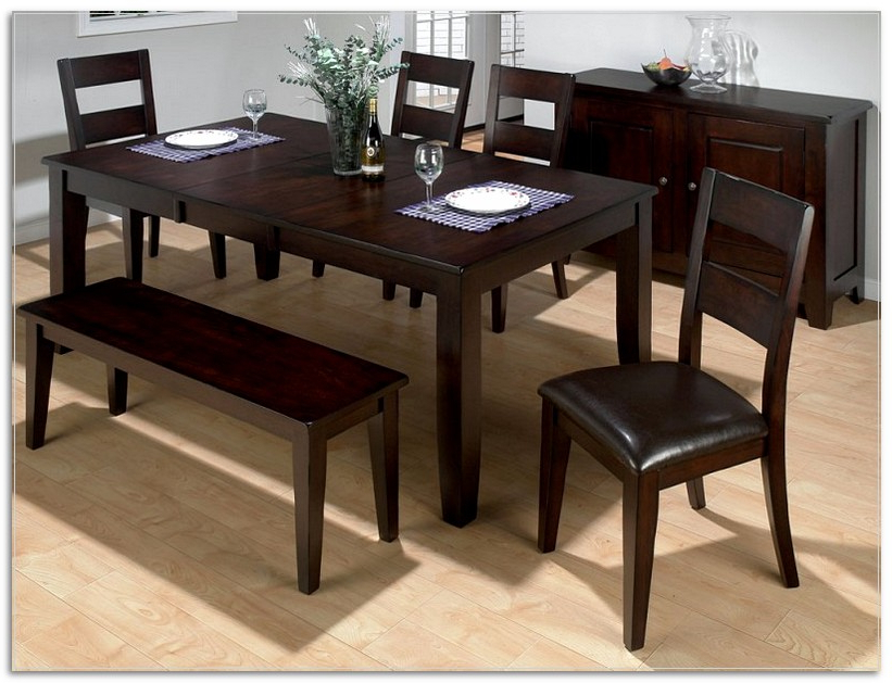 Dark Brown Wood Dining Tables With Regard To Most Up To Date Furniture, Dark Brown Wood Kitchen Table Bench Modern Interior (Gallery 15 of 20)