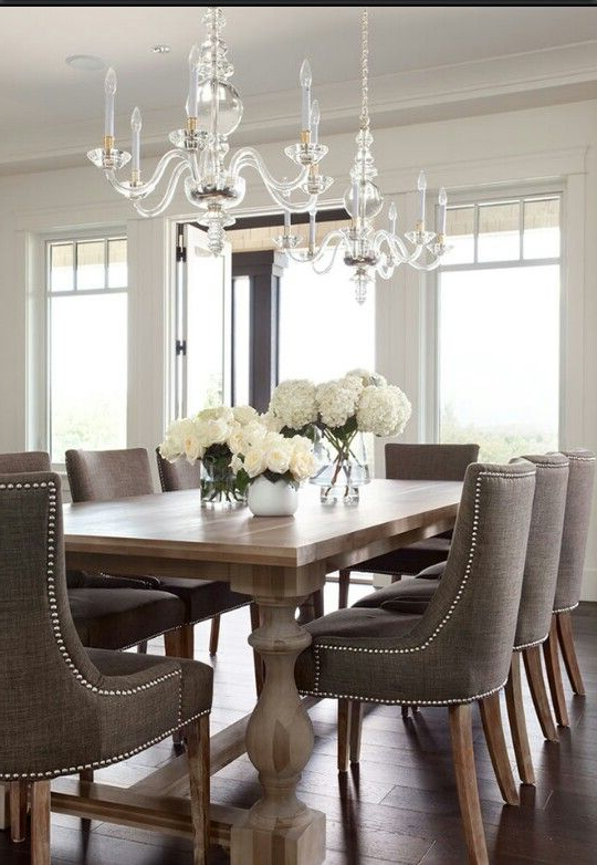 Dark Dining Room Tables Intended For Trendy Dining Room Table 2 – With Dark Grey Chairs (View 4 of 20)