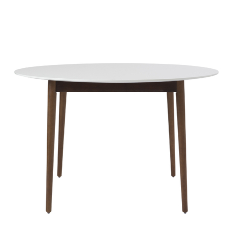 Dark Round Dining Tables With Most Recent Hanee Round Dining Table, Ivory & Dark Walnut (View 8 of 20)