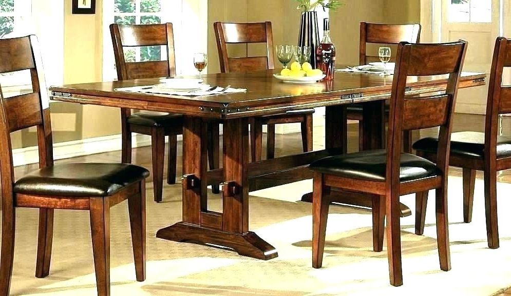 Dark Solid Wood Dining Tables Within Most Recently Released Dark Wood Dining Room Sets – Kuchniauani (View 9 of 20)