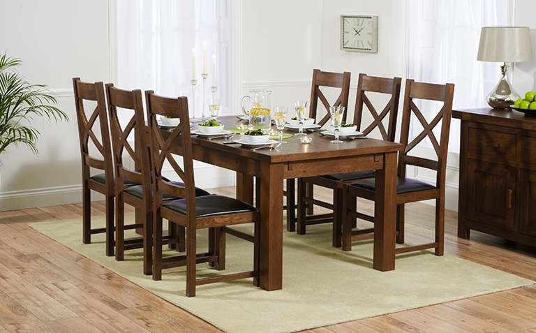 Dark Wood Dining Table – Thetastingroomnyc With Best And Newest Dark Wood Dining Tables 6 Chairs (View 4 of 20)